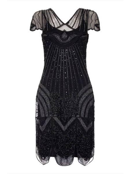 Gatsbylady 20er Jahre Kleid Beatrice schwarz