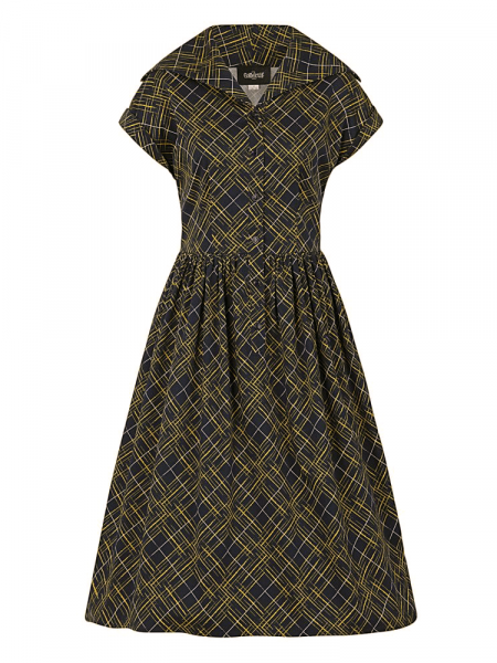 Collectif Kleid Judy Hatch Check Swing Dress