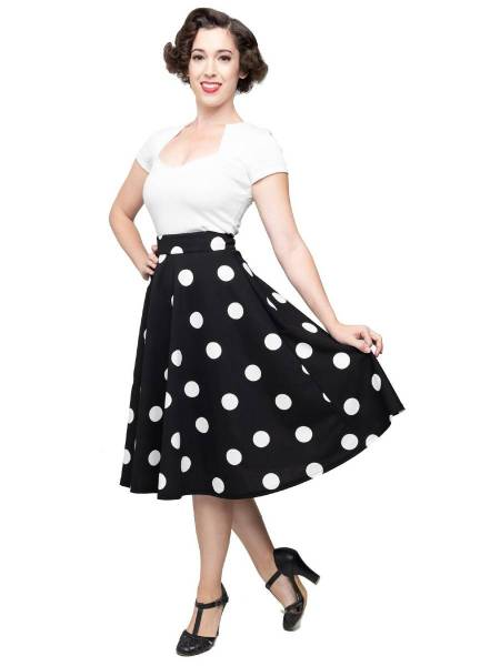 Steady Clothing Rock Dottie Thrills Skirt Polka s/w