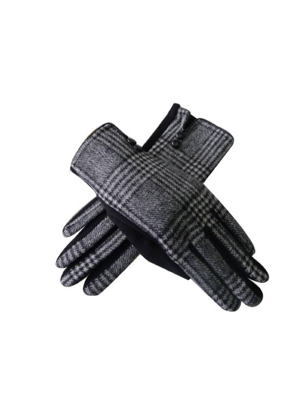 Handschuhe Tartan Gloves schwarz weiß kariert
