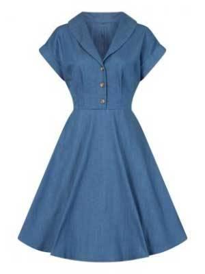Hell Bunny Jeanskleid Freddie Dress Blue