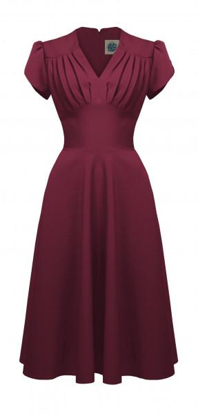Pretty Retro Kleid Retro Swing Dress weinrot