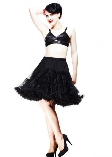Hell Bunny Petticoat 45 cm schwarz