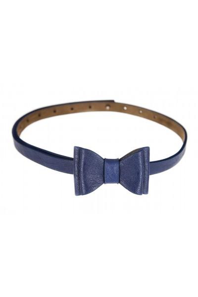 Tatyana Gürtel Big Bow Belt blau
