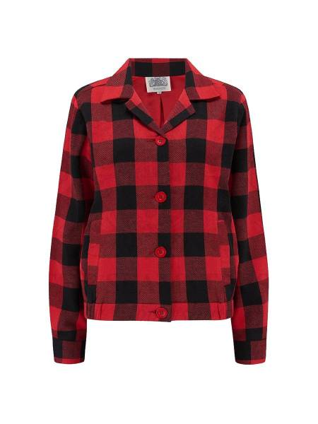The Seamstress of Bloomsbury Jacke Nicki Jacket rot schwarz