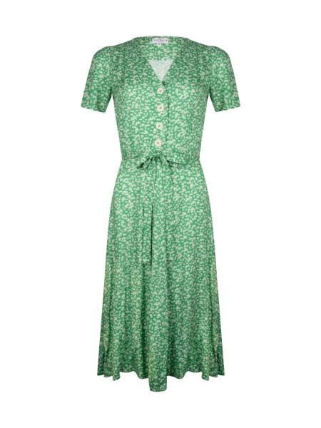 Very Cherry Kleid Magnolia Dress Lily Green Flowers