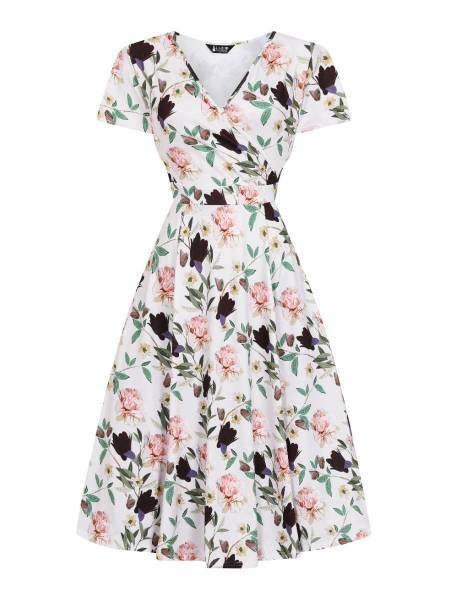 Lady V London Kleid Lyra Pastel Garden Plussize