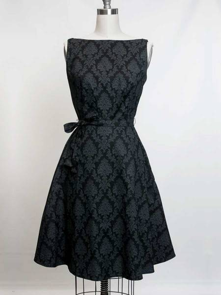 Heart of Haute Kleid Monique Black Damask