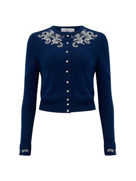 Seamstress of Bloomsbury Cardigan dunkelblau