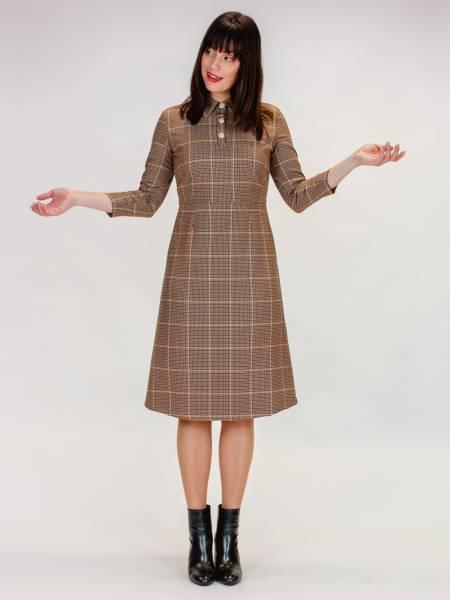 Mademoiselle Yéyé Kleid Just Start Dress braun kariert