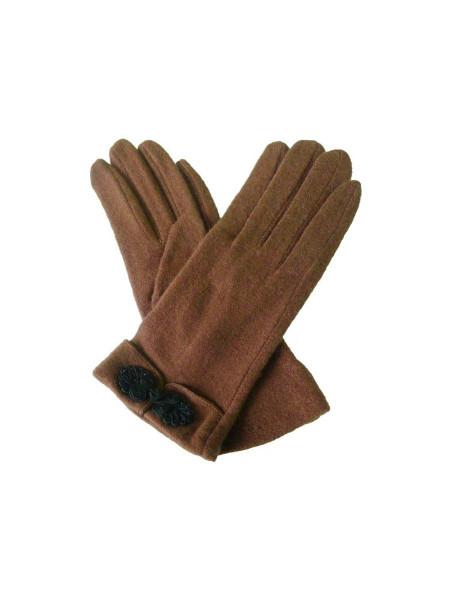 Handschuhe Knot Button Gloves braun
