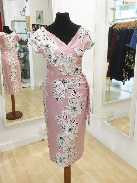 The Pretty Dress Company Pencilkleid Hourglass Hawaiian Pencil Dress rosa