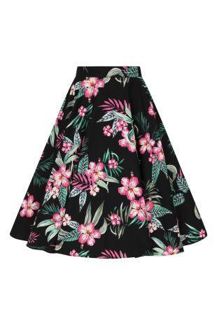 Hell Bunny Rock Kalani 50s Skirt schwarz